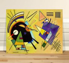 "Wassily Kandinsky Black & Violet ~ CANVAS PRINT 8x12"" ~  Classic Abstract Art"
