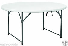 5ft ROUND PIEGHEVOLE TAVOLO CATERING BANCHETTO GARDEN PARTY Office-NEXT DAY DELIVERY