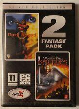 Warrior Kings Battles oscuro angael + PC CD-ROM paquete doble de Fantasía Juego! totalmente Nuevo!