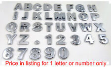 Easy install Chrome Letters Auto Emblems  Number badges Car Bike 3D decals