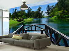 The Bridge Over the Lake Wall Mural Photo Wallpaper GIANT WALL DECOR FREE GLUE