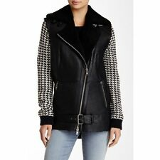 Muubaa Yvorne Genuine Shearling Leather Biker jacket  UK8 / US4 / EU36 RRP £850