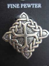 017--  LOVELY  PEWTER  CELTIC PIN/BROOCH  -  NEW