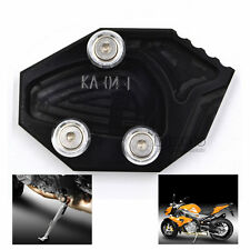 Motorcycle Side Stand Extension Enlarge Pad For KAWASAKI ZX-14R ZZR1400 06-14