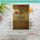 100pcs Golden New Skin Care Facial Oil Clear Control Blotting Papers Absorption