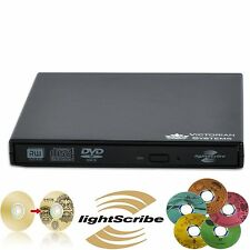New USB 2.0 External DVD RW CD RW LIGHTSCRIBE Burner DVD Drive For PC Laptop MAC