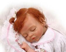 Realistic curly hair newborn reborn baby doll toy soft silicone vinyl