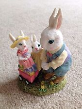 Mr. Jack Rabbit with Penelope and Prudence Figurine - Victorian Collection