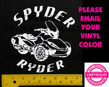 CAN-AM SPYDER  ST LTD SPYDER RYDER - WINDOW DECAL / STICKER  - 13 colors