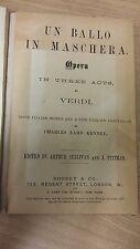 Verdi: Un Ballo In Maschera: Music Score (L3)