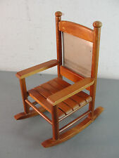 WOODEN ROCKING CHAIR PHOTO FRAME PICTURE HOLDER SLATTED WOOD ROCKER HOME DECOR