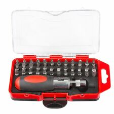 Stalwart Professional Stubby Ratchet and Screwdriver Bit Set 37 Pieces