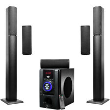 Frisby 5.1 Surround Sound  Home Theater Tower Wireless Bluetooth Speakers System