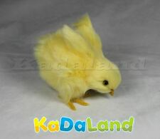 1pc Easter Baby Yellow Chick Wing Look Down Furry Animal Plush Adorable Chicken