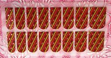 NAIL ART DECALS FOIL WRAPS 4 FINGERS OR TOES CHRISTMAS WRAPPING PAPER #988