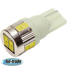 1x LED T10 w5w 6 x 5630 smd Lampe 24V weiß hell Innenraum Beleuchtung Leselampe