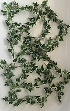 ARTIFICIAL FLOWERS GREENERY 2 X VARIEGATED IVY LEAF GARLANDS