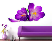 Wall Stickers Flowers Beautiful Spring Crocus Lily Fresh Design for Home Décor