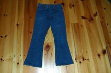 Vintage 1970s Levi's 646 Denim Jeans Size 32 Dark Raw Flare Bell Bottoms