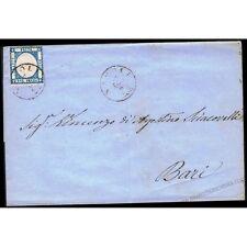 SP018 - 1861 Lettera da Napoli per Bari 2 grana Prov. Napoletane