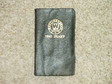 Vintage Westinghouse Electric Light Company 1945 Diary Journal Book Pad Calendar