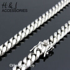 "24""MEN 316L Stainless Steel 7mm Silver Miami Cuban Curb Link Chain Necklace*N154"