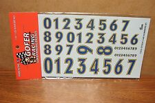 GOFER RACING DECALS STOCK CAR NUMBERS #1 1/24-1/25 SCALE