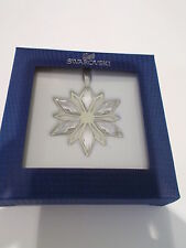 SWAROVSKI - SILVER/CRYSTAL STAR CHRISTMAS DECORATION - BNIB