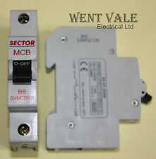 Sector SVMCB6/B - 6a Type B Single Pole MCB New