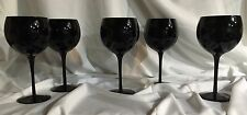 GLOSS,BLACK,WINE GLASSES,BALLOON,GOBLETS,HALLOWEEN,WEDDING,TUXEDO,ANNIVERSARY,5
