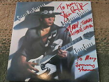 STEVIE RAY VAUGHAN SIGNED LP BY ALL 3 RARE + COA PROOF! DOUBLE TROUBLE ALBUM
