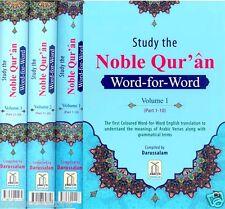 Study The Noble Corán - Coloridas Word-for-Word (3 Volumen Juego) (Tapa dura)