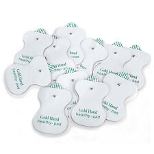 50 Replacement Tens ELECTRODE PADS Message Machine Patches Gold Hand Health Pad