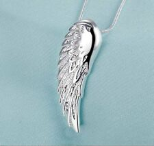 925 Sterling Silver Fashion Jewelry Angel Wing Pendant With Necklace18,20,22 in.