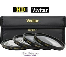 58mm Vivitar Hi-Def 4-Pcs +1 +2 +4 +10 Close Up Macro Lens Set Kit
