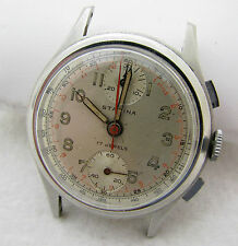 VINTAGE SWISS STARINA TWO REGISTER CHRONOGRAPH WRISTWATCH WATCH PARTS REPAIR