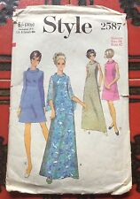 VTG 70s Style Sewing pattern A line Dress in two lengths size 38 bust 42 2587