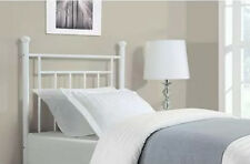 White Metal Twin Headboard For Bed Frame Or Platform Girls Bedroom Furniture
