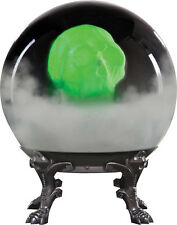 HALLOWEEN SPIRIT CRYSTAL BALL  SKULL ANIMATED PROP DECORATION HAUNTED HOUSE