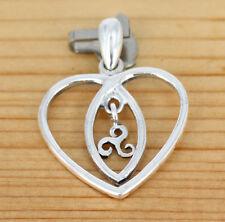 Anhänger Schmuck Silber -  Herz -  Keltische Spirale des leben Triskale
