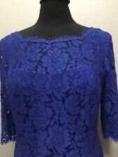 Eliza J Electric Blue Tulip Lace Fit And Flare Quarter Sleeve Dress Nordstrom 14