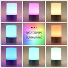USB Rechargeable Touch Sensor Cordless LED Light Desk Table Bedside Lamp