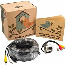 Wired Bird House Camera Kit with Night Vision 700 TV Lines & 65ft AV Cable