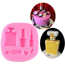 Perfume Nail Make-up Silicone Cake Mould Cupcake Chocolate Mold Sugar Paste Mold