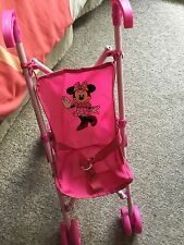 MICKEY MINNIE: ENSEMBLE POUPÉE POUSSETTE SAC À LANGER ROSE GIRLY