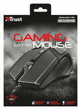 NEW TRUST 21044 GXT101 GAMING MOUSE TO 4800 DPI, 6 BUTTON, CHANGING ILLUMINATION