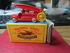 """Matchbox"" Series A Moko Lesney #9 Fire Engine"