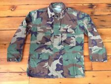 "Vintage USMC Marines Military Woodland Camo Mens Jacket Shirt 46"" Med-Short"
