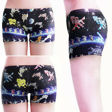 Sexy Galaxy Space Stars Geometric Retro Video Game Mini Work Out Gamer Shorts OS