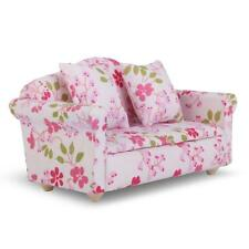 Dollhouse Miniature Living Room Lounge Furniture Floral Sofa Couch Settee 1:12